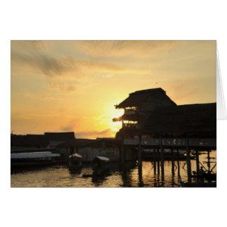 Amazon River at Sunset Card
