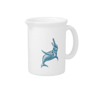 Amazon River Dolphin Drawing Drink Pitchers