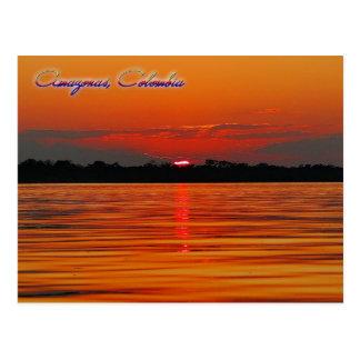 Amazon River Sunset Travel Post Card
