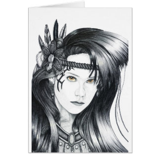 Amazon Warrior - Blank Greetings Card