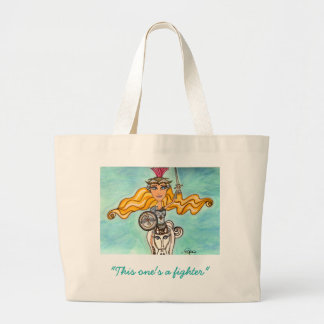 Amazon Warrior Diva reusable tote with quote