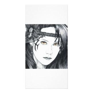 Amazon Warrior (face) - Photo Card