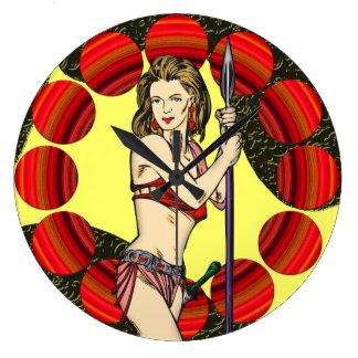 Amazon Warrior Girl Wall Clock