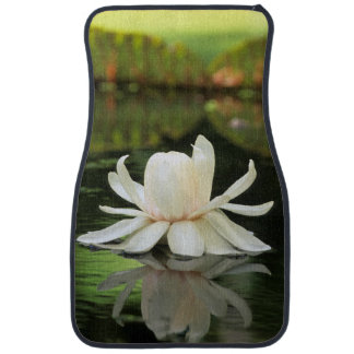 Amazon Water Lily (Victoria Amazonica) Flower Car Floor Mat