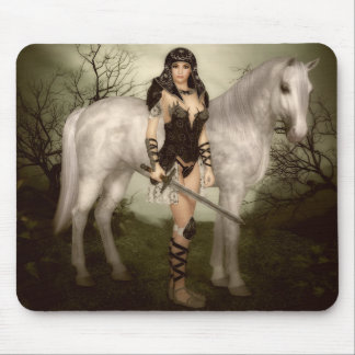 Amazon with Horse Mouse Pad