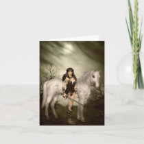 Amazon with Horse Note Card