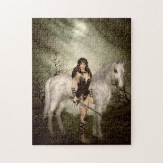 Amazon with Horse Puzzle