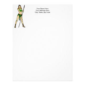 Amazon Women Queen Letterhead