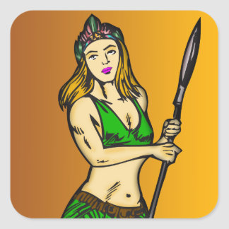 Amazon Women Queen Square Stickers