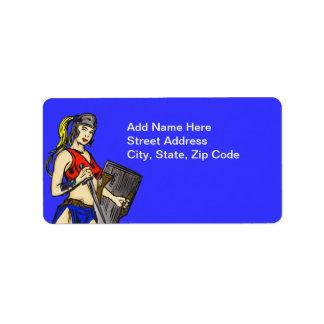 Amazon Women Soldiers Label