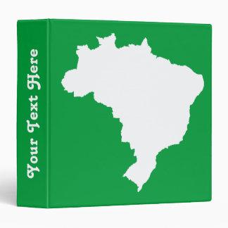 Amazonian Green Festive Brazil at Emporio Moffa 3 Ring Binder