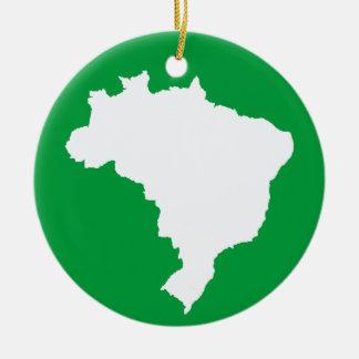 Amazonian Green Festive Brazil at Emporio Moffa Ceramic Ornament