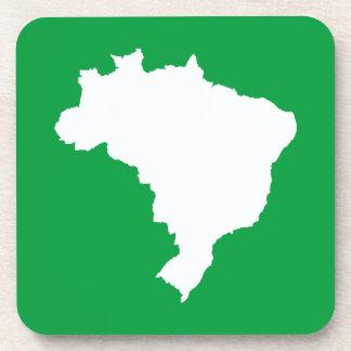 Amazonian Green Festive Brazil at Emporio Moffa Drink Coaster