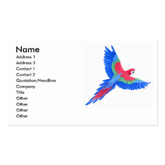 Amazonian Macaw Business Card Templates