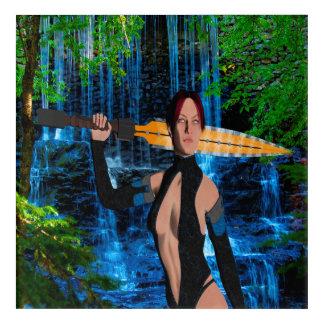 Amazonian Warrior Acrylic Wall Art