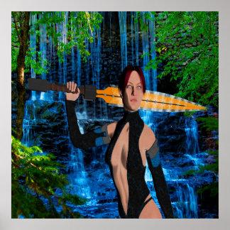 Amazonian Warrior Poster