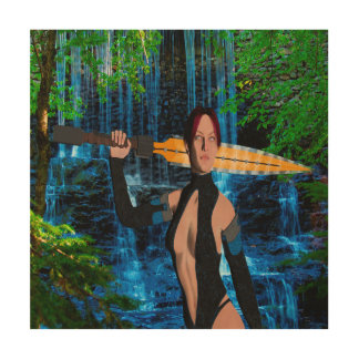 Amazonian Warrior Wood Print