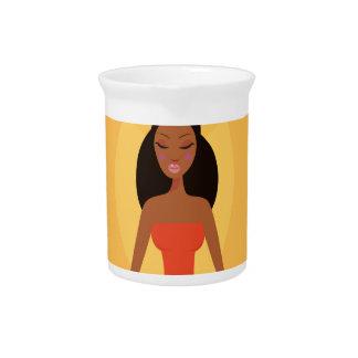 AMAZONIC YOGA PRINCESS WELLNESS GIRL YELLOW DRINK PITCHER