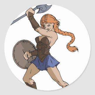 Amazons and Warriors Classic Round Sticker