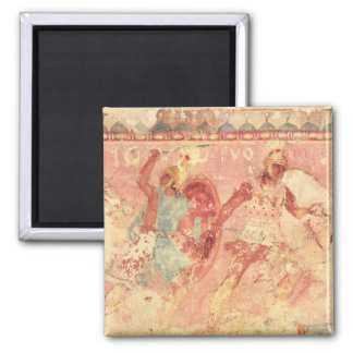 Amazons fighting a Greek warrior 2 Inch Square Magnet