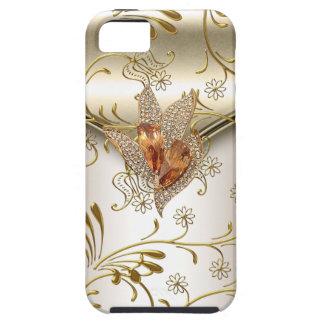ámbar beige del oro de la crema del caramelo del d iPhone 5 Case-Mate protector