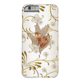 Ámbar beige del oro de la crema del caramelo del funda de iPhone 6 barely there