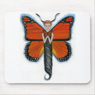 Ámbar el cojín de ratón de la mariposa de monarca alfombrillas de ratones