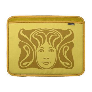 Ámbar femenino de la cara de la diosa romana de No Fundas Para Macbook Air