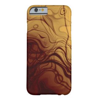 Ámbar Marbleized modelo abstracto dramático Funda Para iPhone 6 Barely There