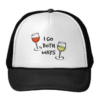 Ambas copas de vino de las maneras gorro de camionero