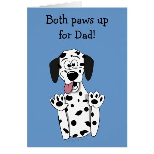 Ambas patas suben al padre divertido del Dalmatian Felicitación