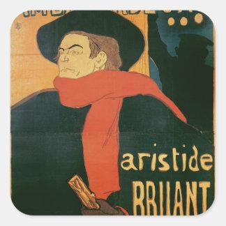 Ambassadeurs: Aristide Bruant, 1892 Pegatina Cuadrada