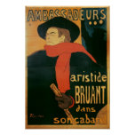 Ambassadeurs: Aristide Bruant, 1892 Poster