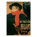 Ambassadeurs: Aristide Bruant, 1892 Tarjeta De Felicitación