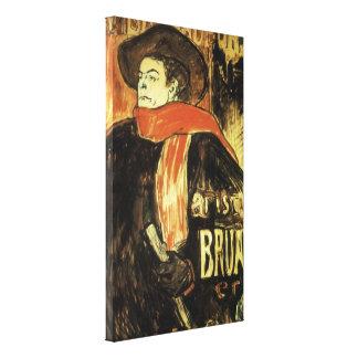 Ambassadeurs Aristide Bruant by Toulouse Lautrec Canvas Print