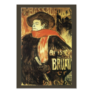 Ambassadeurs Aristide Bruant by Toulouse Lautrec Card
