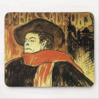 Ambassadeurs Aristide Bruant by Toulouse Lautrec Mouse Pad