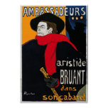 Ambassadeurs Aristide Bruant by Toulouse Lautrec Posters
