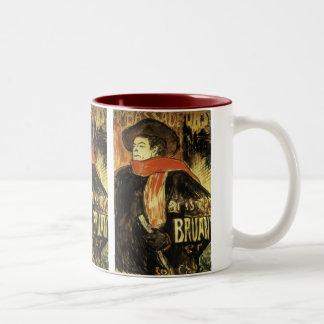 Ambassadeurs Aristide Bruant by Toulouse Lautrec Two-Tone Coffee Mug