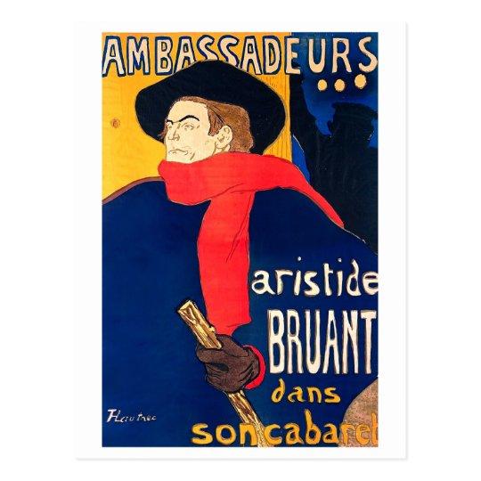 Ambassadeurs Aristide Bruant dans son Cabaret Postcard