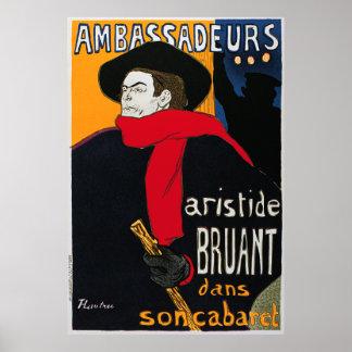 Ambassadeurs Aristide Bruant por Toulouse Lautrec Poster
