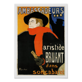 Ambassadeurs Aristide Bruant - Toulouse Lautrec Posters