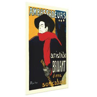 Ambassadeurs: Artistide Bruant by Toulouse Lautrec Canvas Print