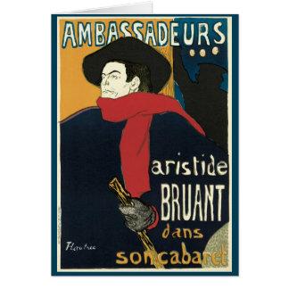Ambassadeurs Artistide Bruant by Toulouse Lautrec Cards