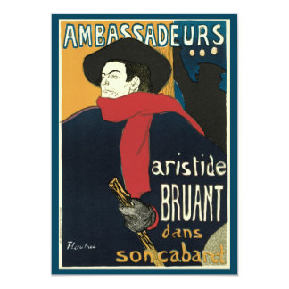 Ambassadeurs: Artistide Bruant by Toulouse Lautrec Card