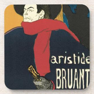 Ambassadeurs: Artistide Bruant by Toulouse Lautrec Drink Coaster