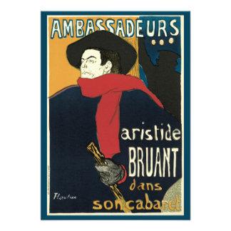 Ambassadeurs Artistide Bruant by Toulouse Lautrec Custom Invite