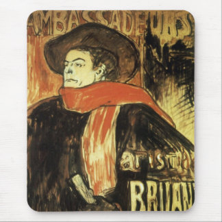 Ambassadeurs; Artistide Bruant by Toulouse Lautrec Mouse Pad