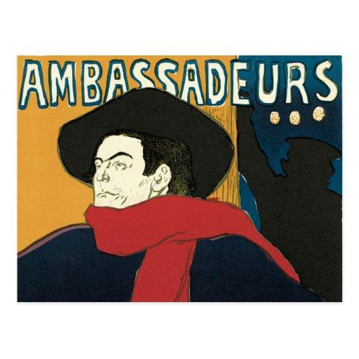 Ambassadeurs: Artistide Bruant by Toulouse Lautrec Postcards