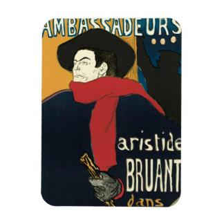 Ambassadeurs: Artistide Bruant by Toulouse Lautrec Rectangle Magnet